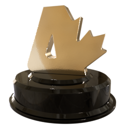 [Image of a gold Canadian Atheist logo statuette.]